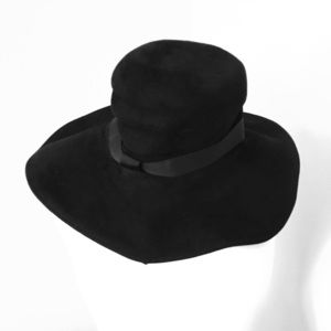 Black Wide Brim Witchy Hat Vintage London Special!
